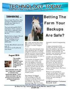thumbnail of August 2016 Newsletter for Emailing